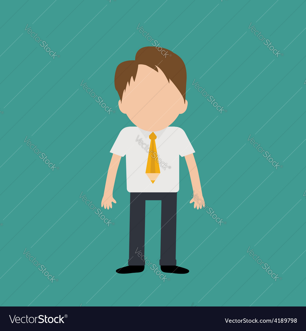 Businessman wearing a shirt neck tie in pencil vector | Price: 1 Credit (USD $1)