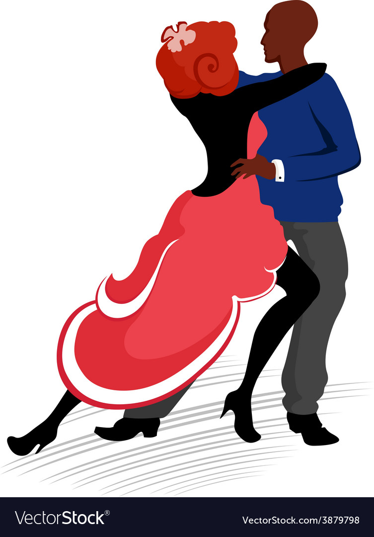 Dancing couple vector | Price: 1 Credit (USD $1)