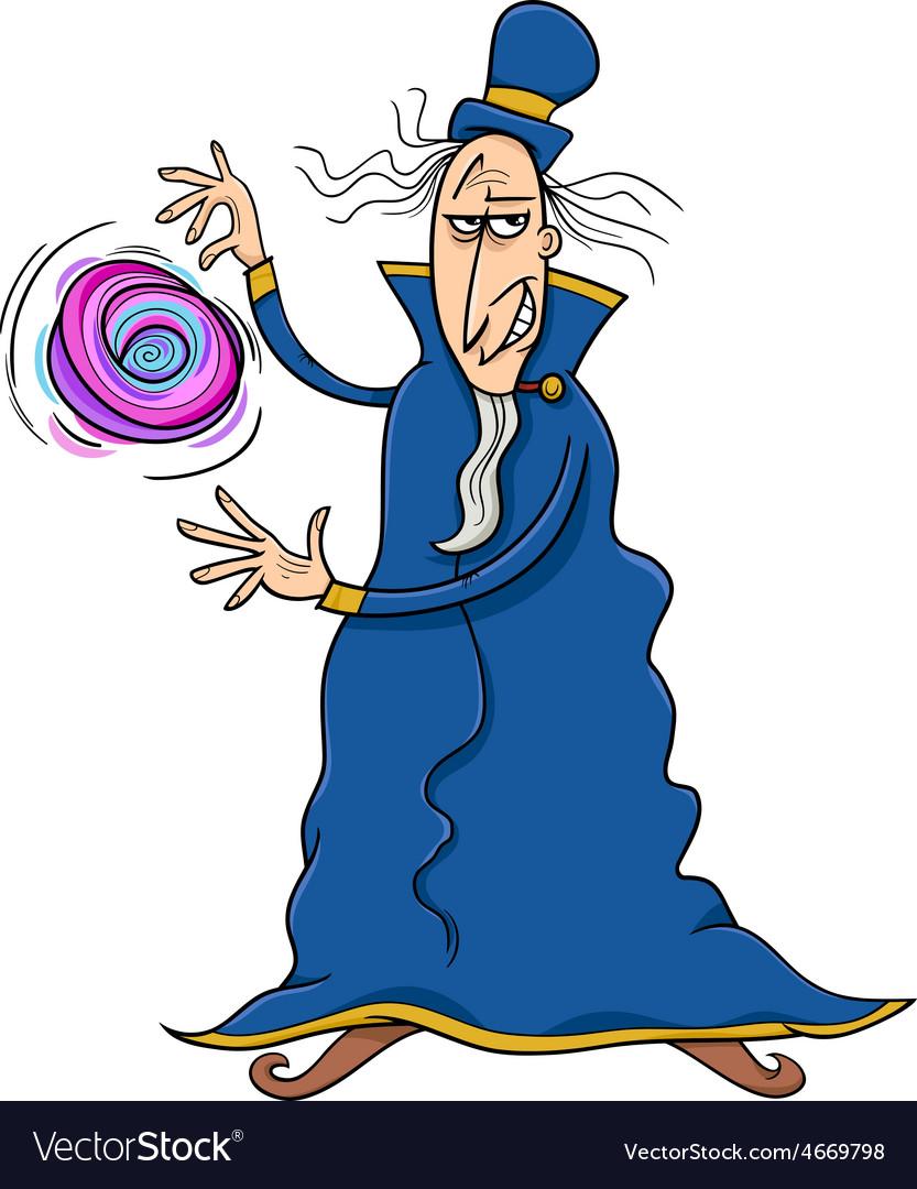Evil sorcerer cartoon vector | Price: 1 Credit (USD $1)