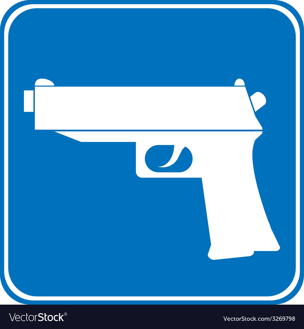 Gun allowing sign vector | Price: 1 Credit (USD $1)