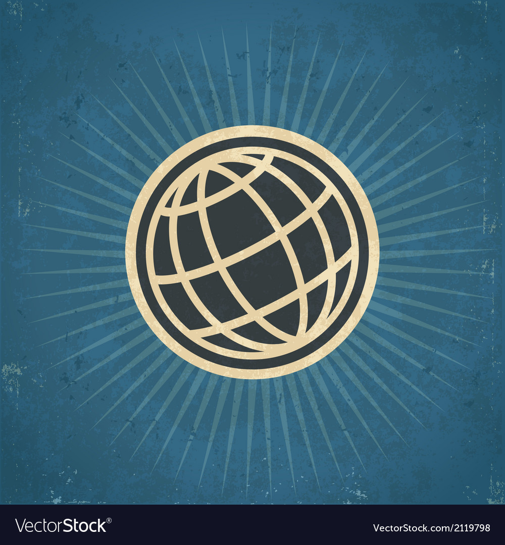 Retro globe vector | Price: 1 Credit (USD $1)