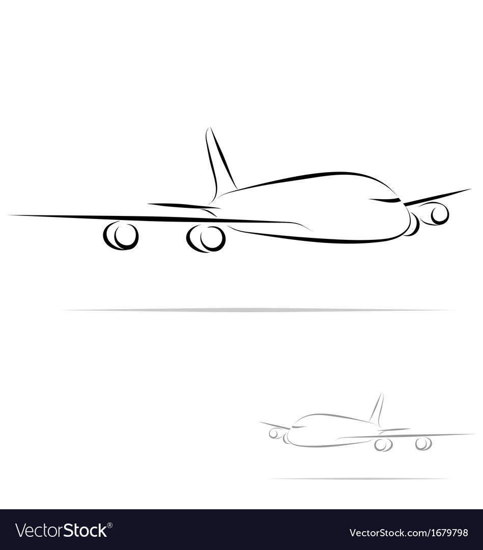 Stylized plane vector | Price: 1 Credit (USD $1)
