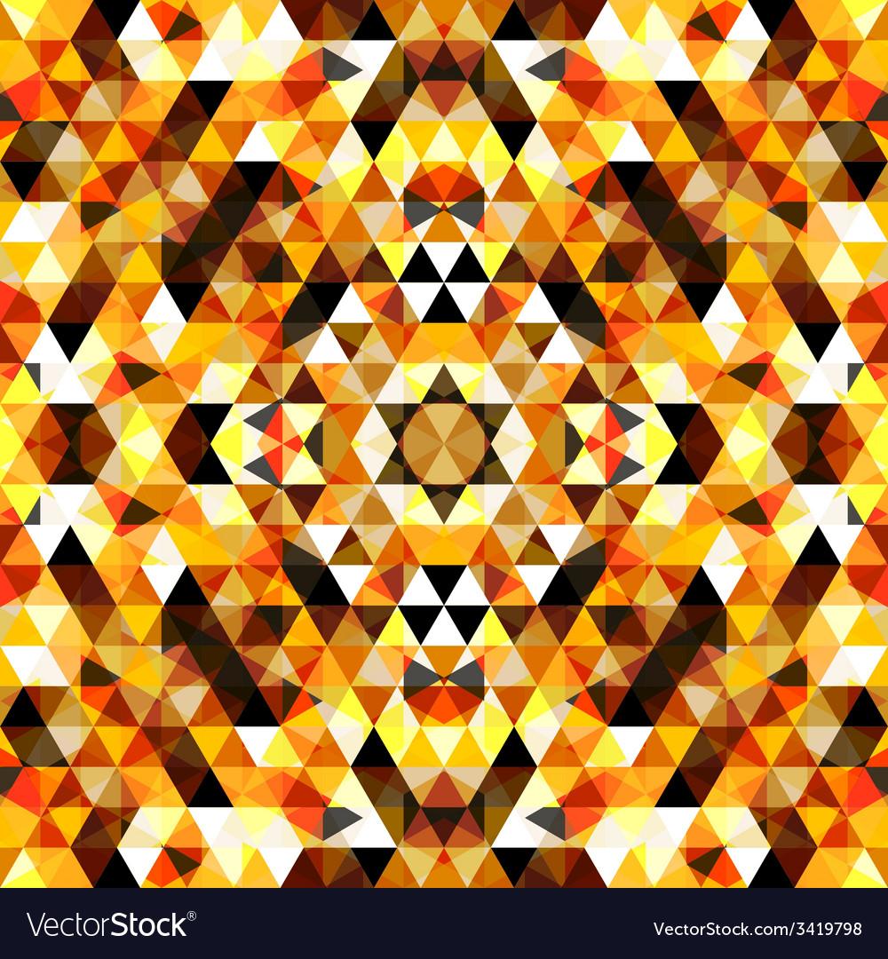 Triangular mosaic orange background vector | Price: 1 Credit (USD $1)