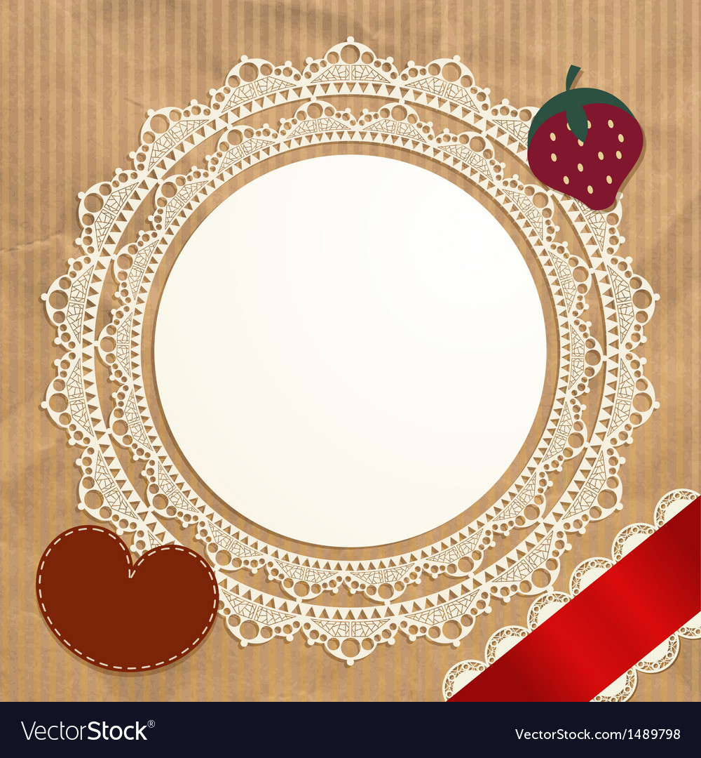 Vintage doily on the old paper background vector | Price: 1 Credit (USD $1)