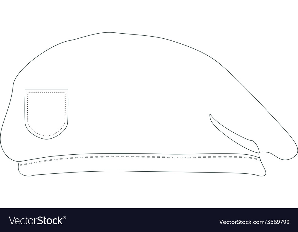 Armay beret outline drawings vector   Price: 1 Credit (USD $1)