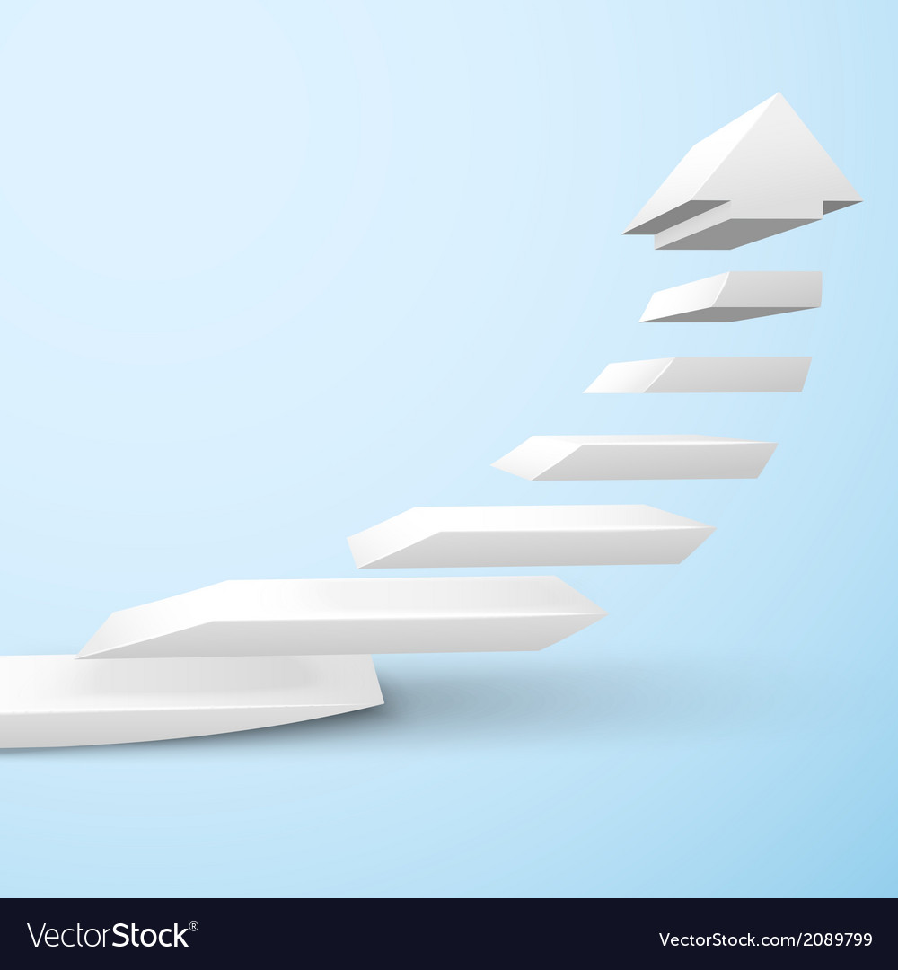 Ascending staircase arrow vector | Price: 1 Credit (USD $1)