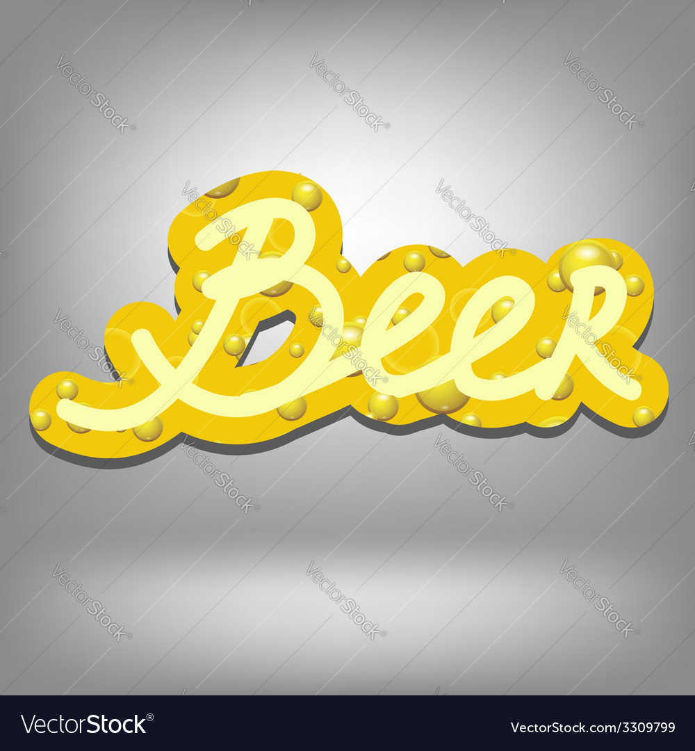 Beer text vector | Price: 1 Credit (USD $1)