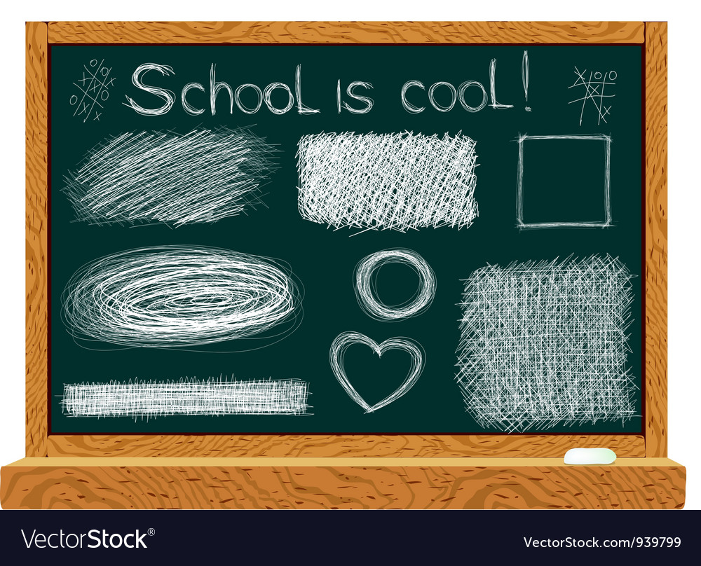 Blackboard with line drawings vector | Price: 1 Credit (USD $1)