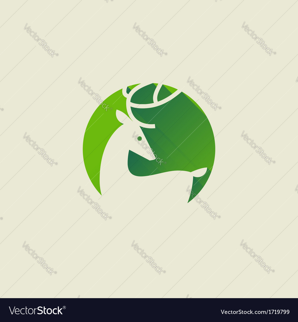 Deer elegant flat icon with long shadow vector | Price: 1 Credit (USD $1)