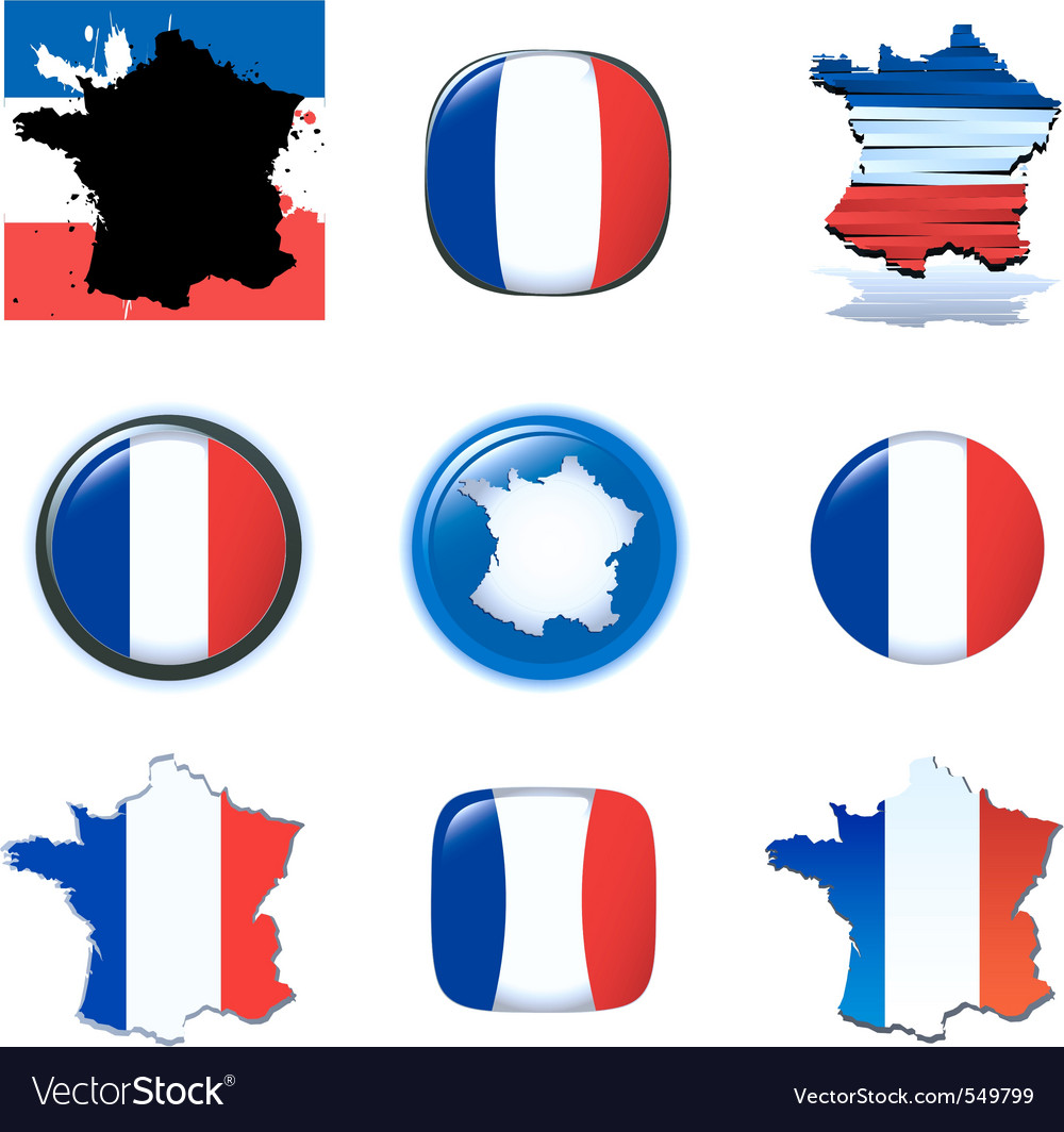 France icons vector | Price: 1 Credit (USD $1)