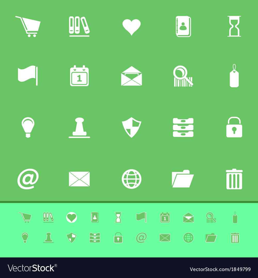 General folder color icons on green background vector | Price: 1 Credit (USD $1)