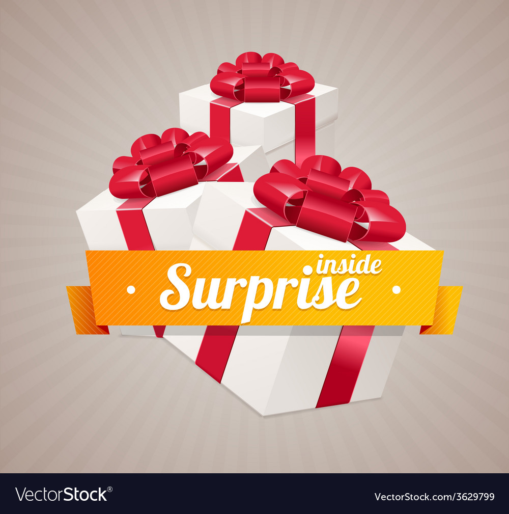 Gift box present card vector | Price: 1 Credit (USD $1)