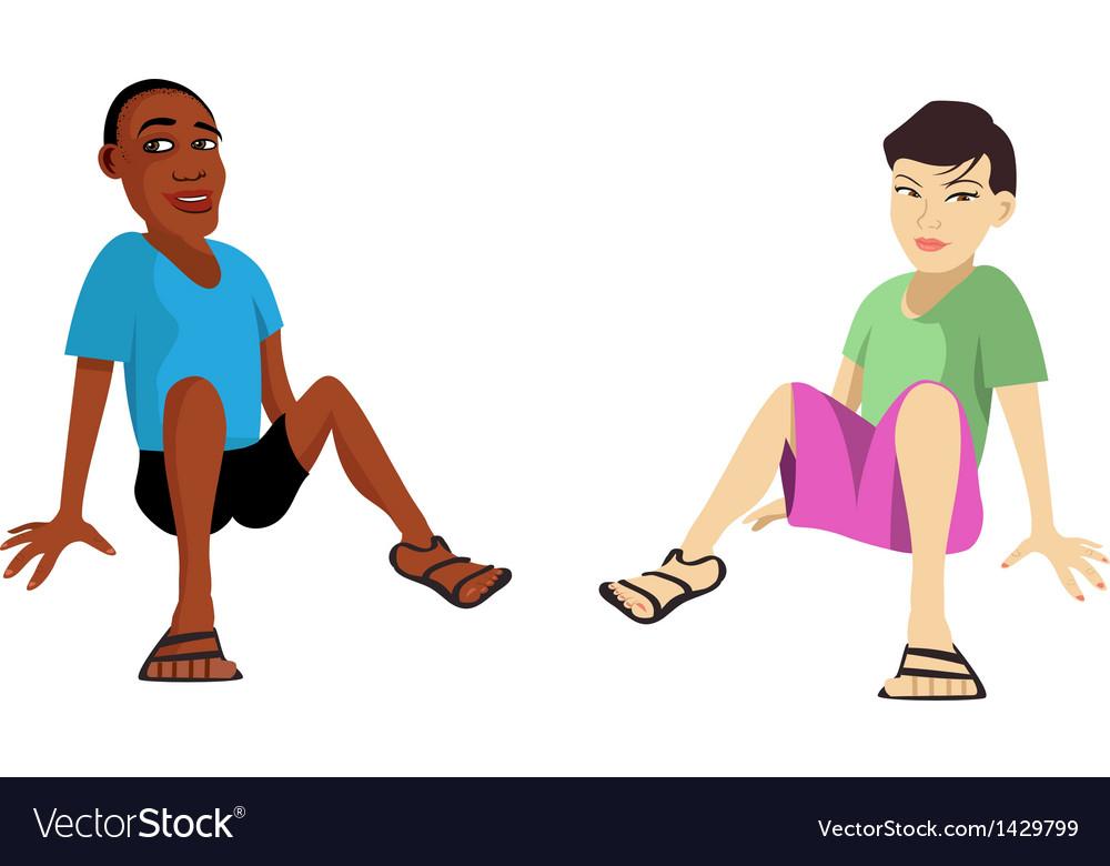 Kids sitting vector | Price: 1 Credit (USD $1)