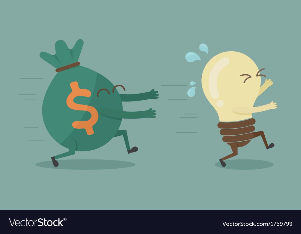 Money chasing ideas vector | Price: 1 Credit (USD $1)