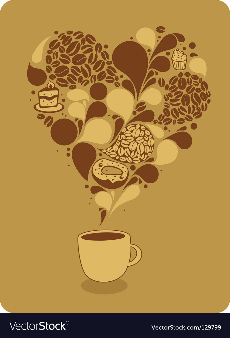 Mug of coffee and sweets vector | Price: 1 Credit (USD $1)