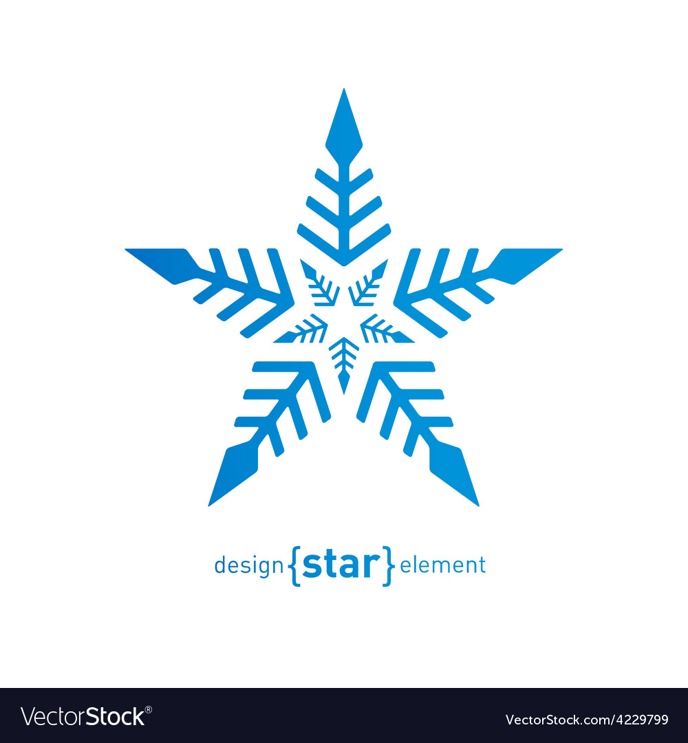 Original snowflake on white background vector | Price: 1 Credit (USD $1)