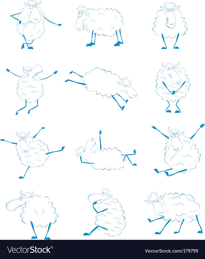 Sheep set vector | Price: 1 Credit (USD $1)