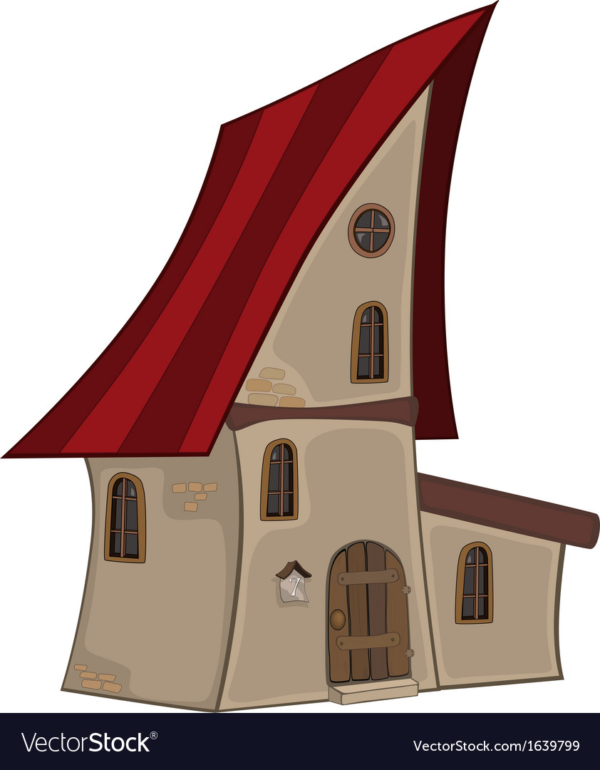 Small house cartoon vector | Price: 1 Credit (USD $1)