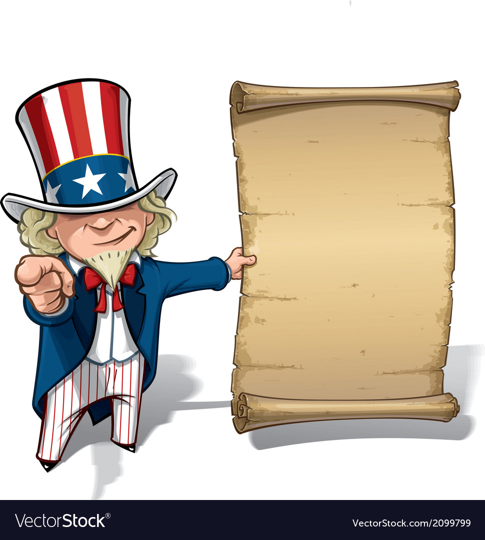 Uncle sam i want you declaration vector | Price: 1 Credit (USD $1)