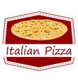 An italian pizza label vector
