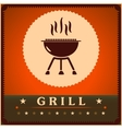 Retro grill menu card design template poster vector