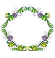 A grape vine border vector
