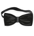 Black bow-tie vector