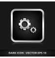 Settings icon silver metal vector
