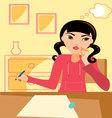 Girl-studying vector