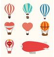 Airballoon design over white background vector