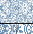 Vintage victorian age blue seamless pattern vector