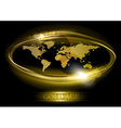 World abstract shine gold vector