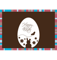 Easter egg on a brown background vector