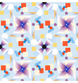 Geometric figures pattern on blue vector