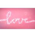 Bokeh romantic background vector