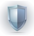Blank shield protection emblem vector