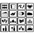 Food buttons for market place vector