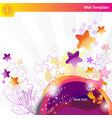 Colorful bubbles and stars vector