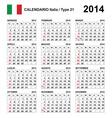 Calendar 2014 italy type 21 vector