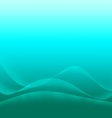 Abstract aqua background with waves of light vector