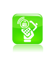 Radio phone icon vector