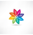 Eco leaf abstraction icon vector