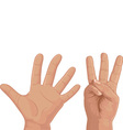 Eight from fingers vector