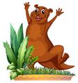 A brown animal vector
