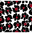 Black orchid seamless pattern vector