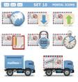 Postal icons set 10 vector