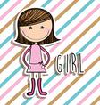 Girl design vector