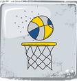 Basketball sports theme vector