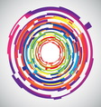 Abstract technology colourful circles background vector
