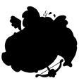 Cartoon cupid silhouette vector